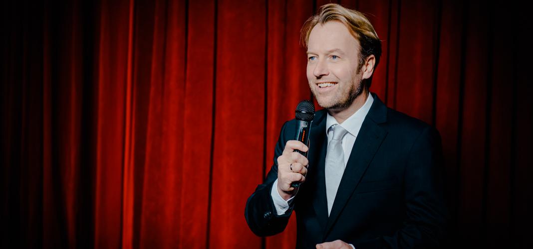 Peter Polevkovits auf der Bühne
